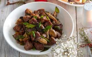 Свинина кусочками с шампиньонами в духовке: лучшие рецепты приготовления