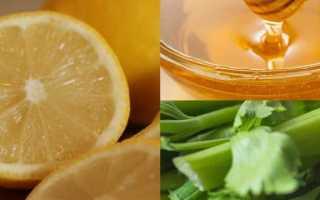 Лечебная смесь лимона, мёда и сельдерея: рецепт, от чего помогает