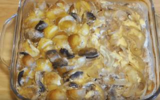 Мясо с шампиньонами в духовке: как приготовить, рецепты с сыром, картошкой, сметаной