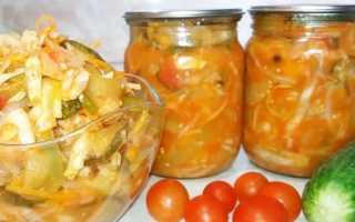 Салат ассорти из овощей на зиму: самые вкусные с белокочанной капустой