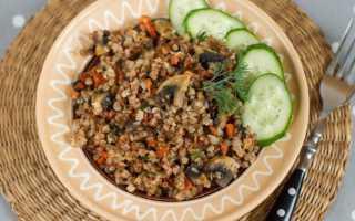 Гречка с шампиньонами, луком и другими овощами: простые рецепты с фото пошагово
