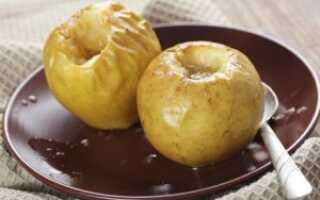 Печёные яблоки в микроволновке: польза и вред, калорийность, химический состав, особенности употребления