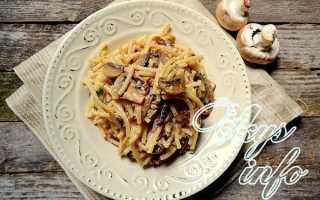 Паста с грибами в сметанном соусе: спагетти и рожки в сметане, с шампиньонами, рецепты