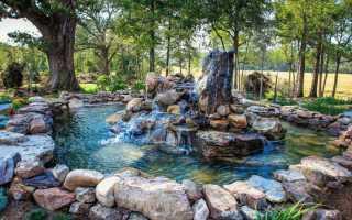 Ландшафтный дизайн с водопадом: каскады своими руками на даче, фото и пошаговая инструкция, небольшие фонтаны с прудом