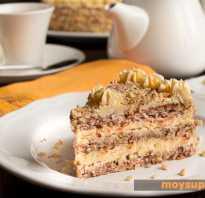 Торт с вареной сгущёнкой и грецкими орехами: рецепт приготовления с фото