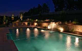Подсветка для декоративного пруда: как сделать на даче для фонтана своими руками, подводные светодиодные светильники и плавающий свет, фото освещения