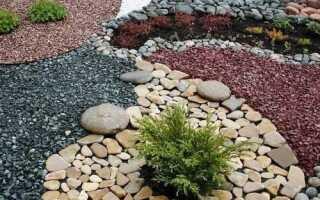 Каменная крошка в ландшафтном дизайне: как укладывать цветную и декоративную, использование мраморной и гранитной, фото в ландшафте
